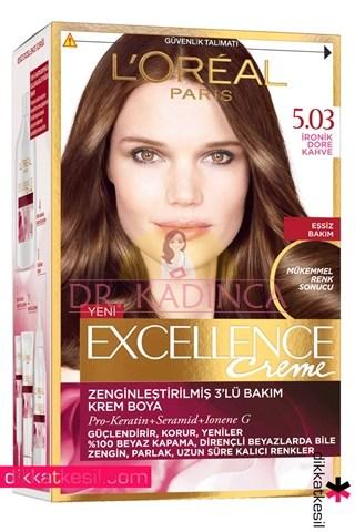 Loreal Paris Excellence 5.03 İronik Dore Kahve saç