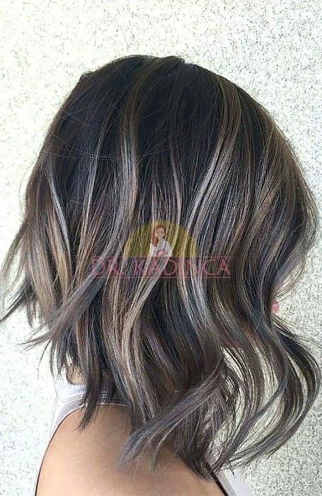 Siyah Saçlar İçin Ombre Saç Örneği