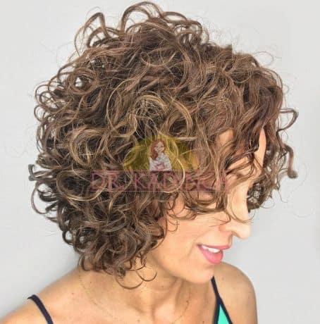 Doğal Permalı Kıvırcık Saç