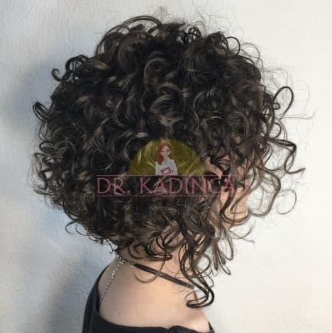 Önü Uzun Arkası Kısa Kıvırcık Saç Modelleri