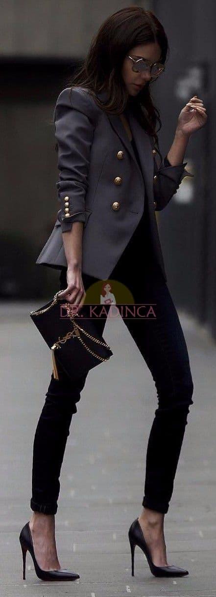Siyah Pantolon Ceket Kombini