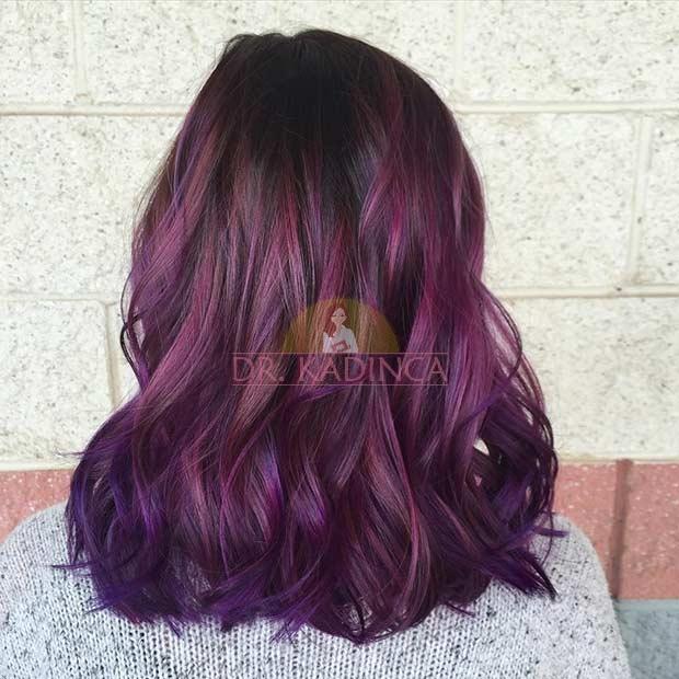Kızıl Mor Saç Rengi