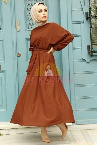 Kiremit Rengi Elbise